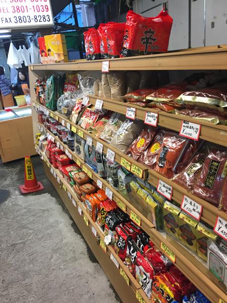 インスタント類・調味料・唐辛子・韓国のり